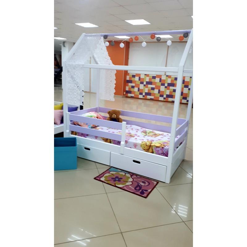Детская кровать-домик Василиса 1 с доп. спальным местом